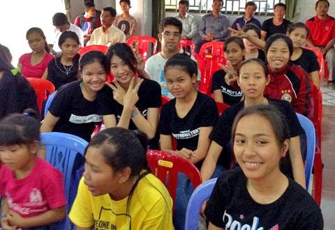 A typical Sunday morning gathering in Battambang