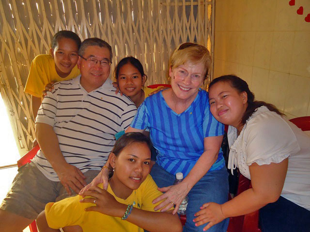 Gwen Higaki, Executive Director of Bright Start Learning, and her Husband Vern visited BB6 along with the rest of the team from Western Reserve Church.