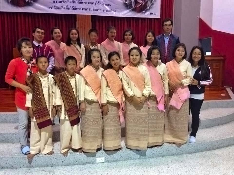 The touring choir, pictured with their choir director and our Asia's Hope Thailand National Director, Mrs. Tutu Bee.