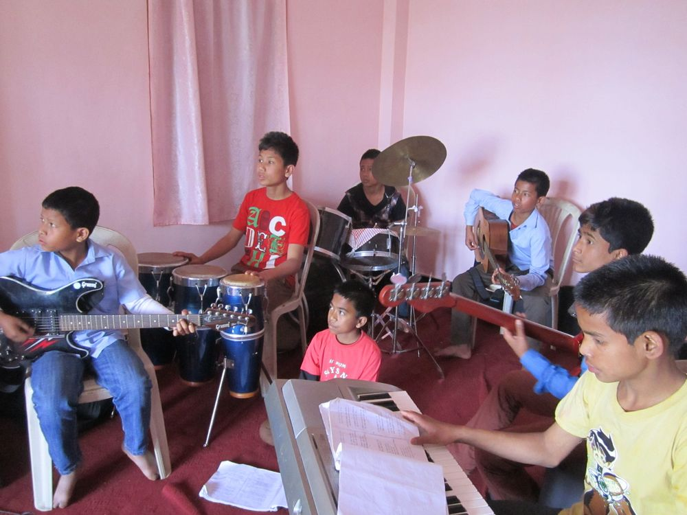 The kids of Kalimpong 1 often lead the other children in worship.