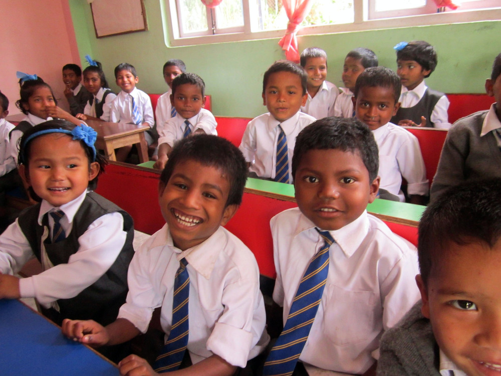 Some of the younger kids of Asia's Hope India hard at work.