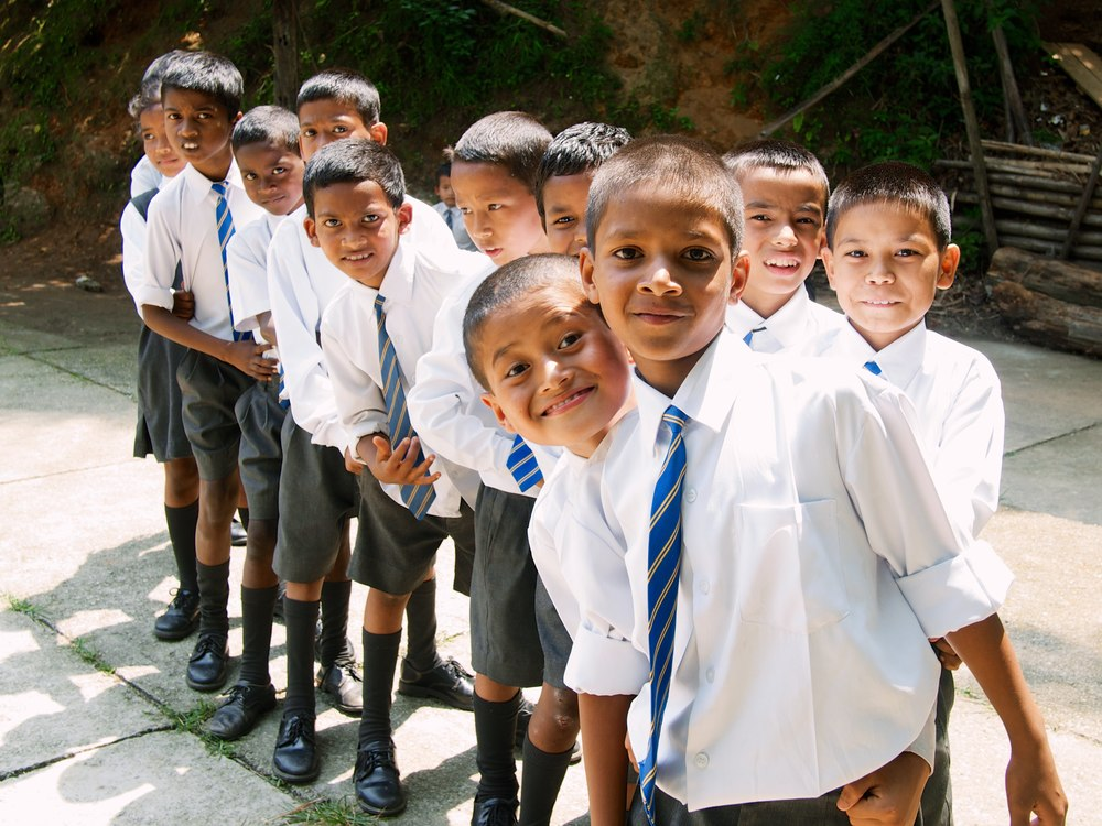 Children at the Asia's Hope School in Kalimpong, India