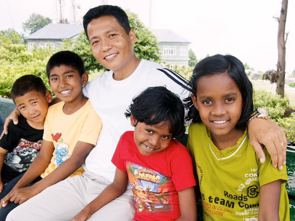 Nandu, Director of Asia's Hope India, and the kids.