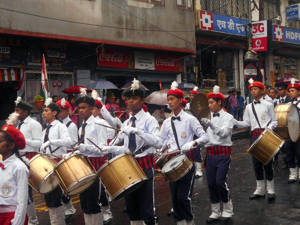 Independence Day in India — kids from Kalimpong 1 participated in public parades and performances! Kind of a big deal.