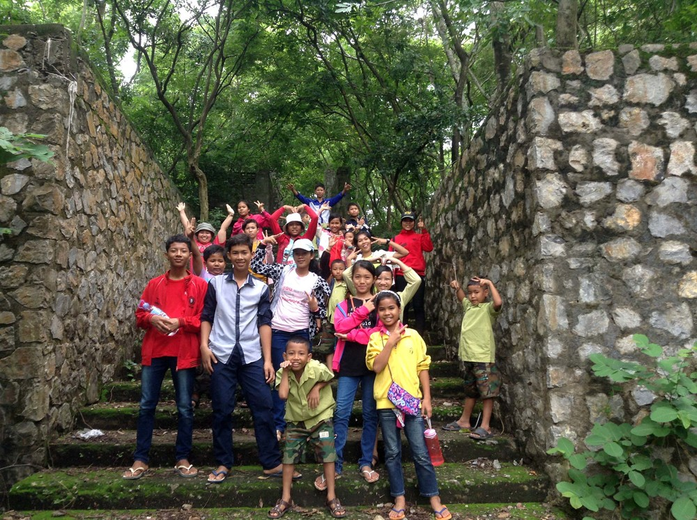 The kids, staff, and home parents enjoy an outing to one of the historical temple sites near Battambang!