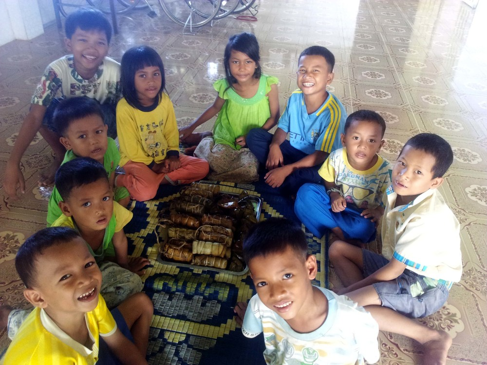 The kids of Battambang 10 enjoy some time to relax before the school year begins in earnest.