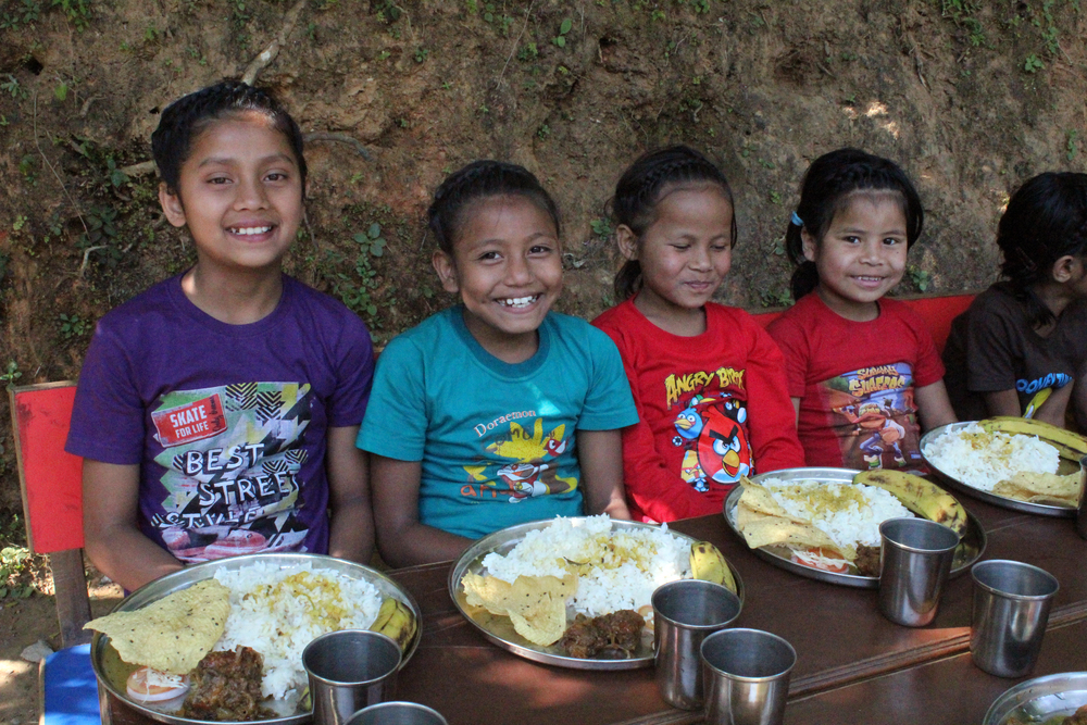 The kids of Kalimpong 3 enjoy special birthday meals and celebrations with the family and the rest of Asia's Hope India