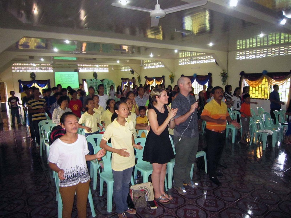 Jeff and Adrian took part in Sunday worship with the children and staff.