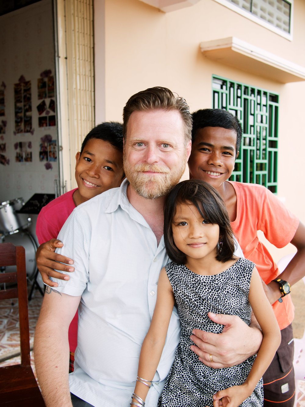 Spending quality time with some of the beautiful kids at our homes in Battambang, Cambodia this summer