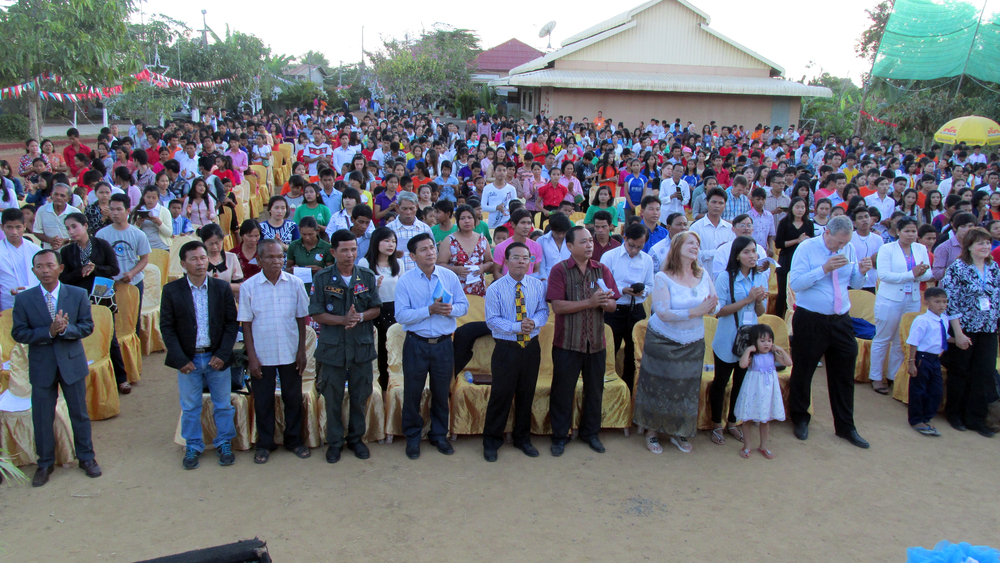 More than 1500 people joined our staff and kids on our Battambang campus.