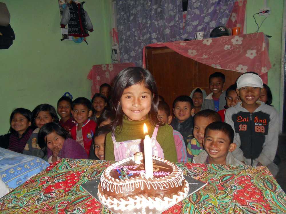 Wishing a happy birthday to five wonderful kids at our Kalimpong 3 home in India!