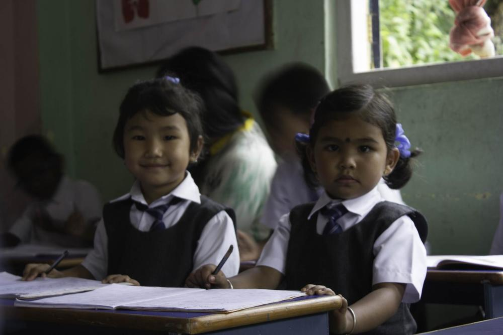 Studying hard at the Asia's Hope School in Kalimpong, India.