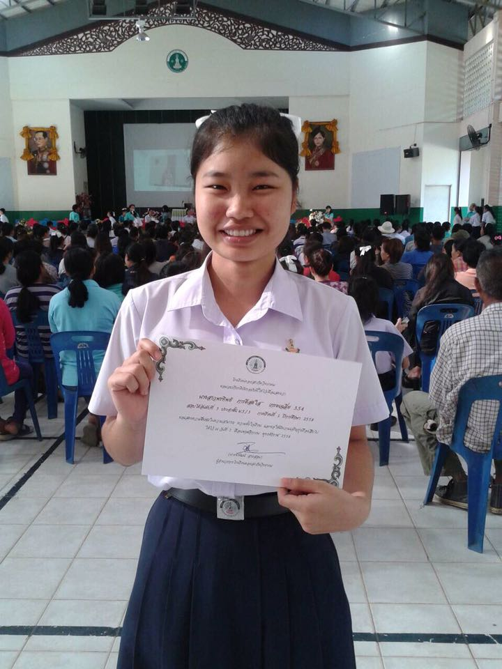 Honor student from Asia's Hope Thailand