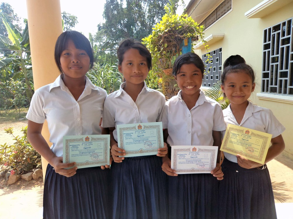 Honor students from Asias' Hope Cambodia