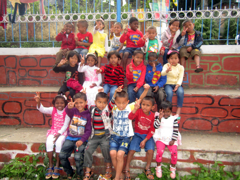 Our newest group of kiddos in India, the Kalimpong 5 children's home.