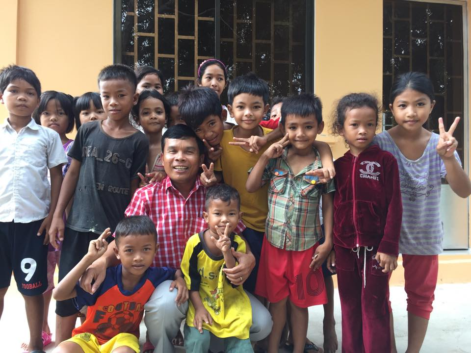 Savorn Ou, Asia's Hope Cambodia National Director, with our newest group of Asia's Hope kids!
