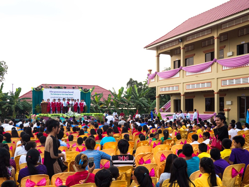 The dedication service for our new secondary school in Battambang, Cambodia, which should be open for classes in August 2016.