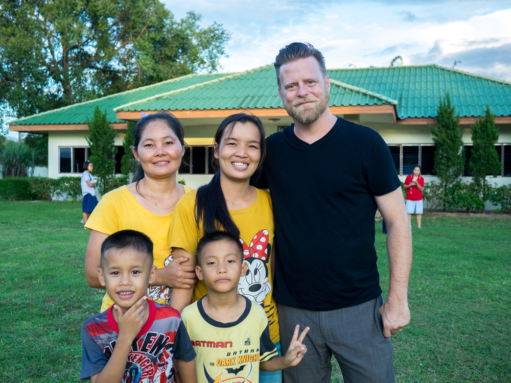 Executive Director John McCollum visits with staff and kids at our Doi Saket 1 (Thailand) homes.