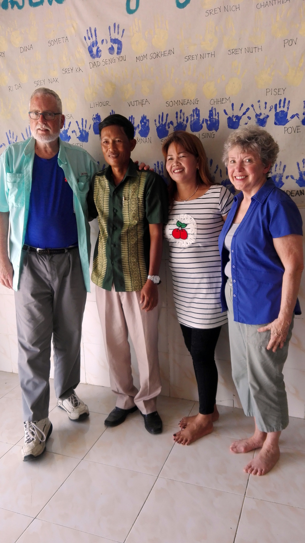 Asia's Hope Board member, John Campbell, and his wife Bobby, visiting with old friends!