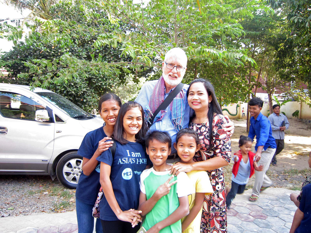 Asia's Hope Board member, John Campbell, hanging out with friends old and new!