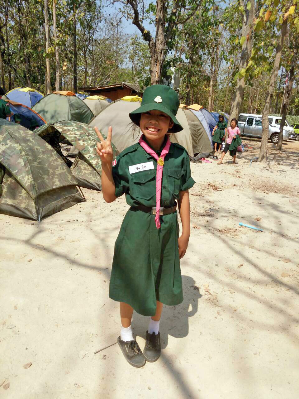 Scout camp for the kids of Doi Saket 3 and 4!