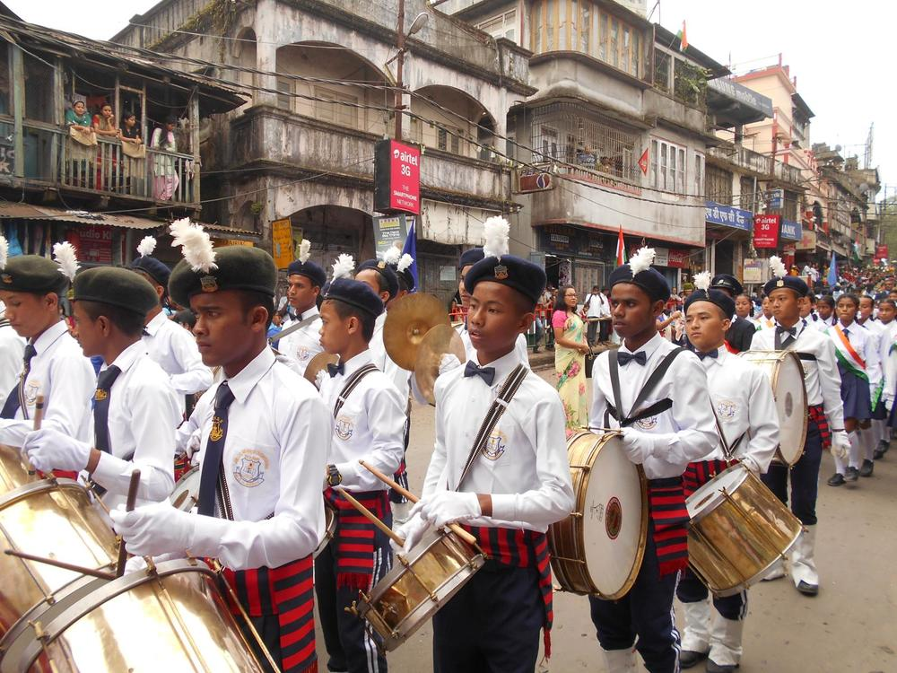 A couple Kalimpong 1 kids marching in India's Republic Day festivities earlier this year!