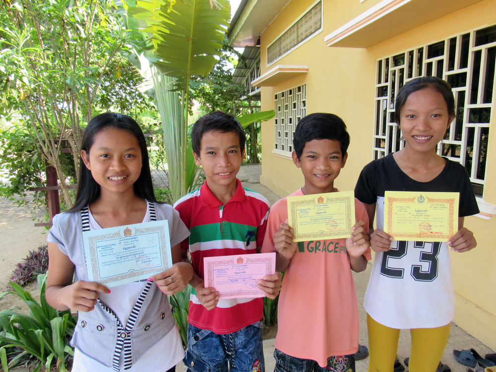Some of the high achievers from Battambang 9!