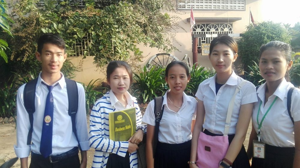 A few of our university scholars from Battambang 1.