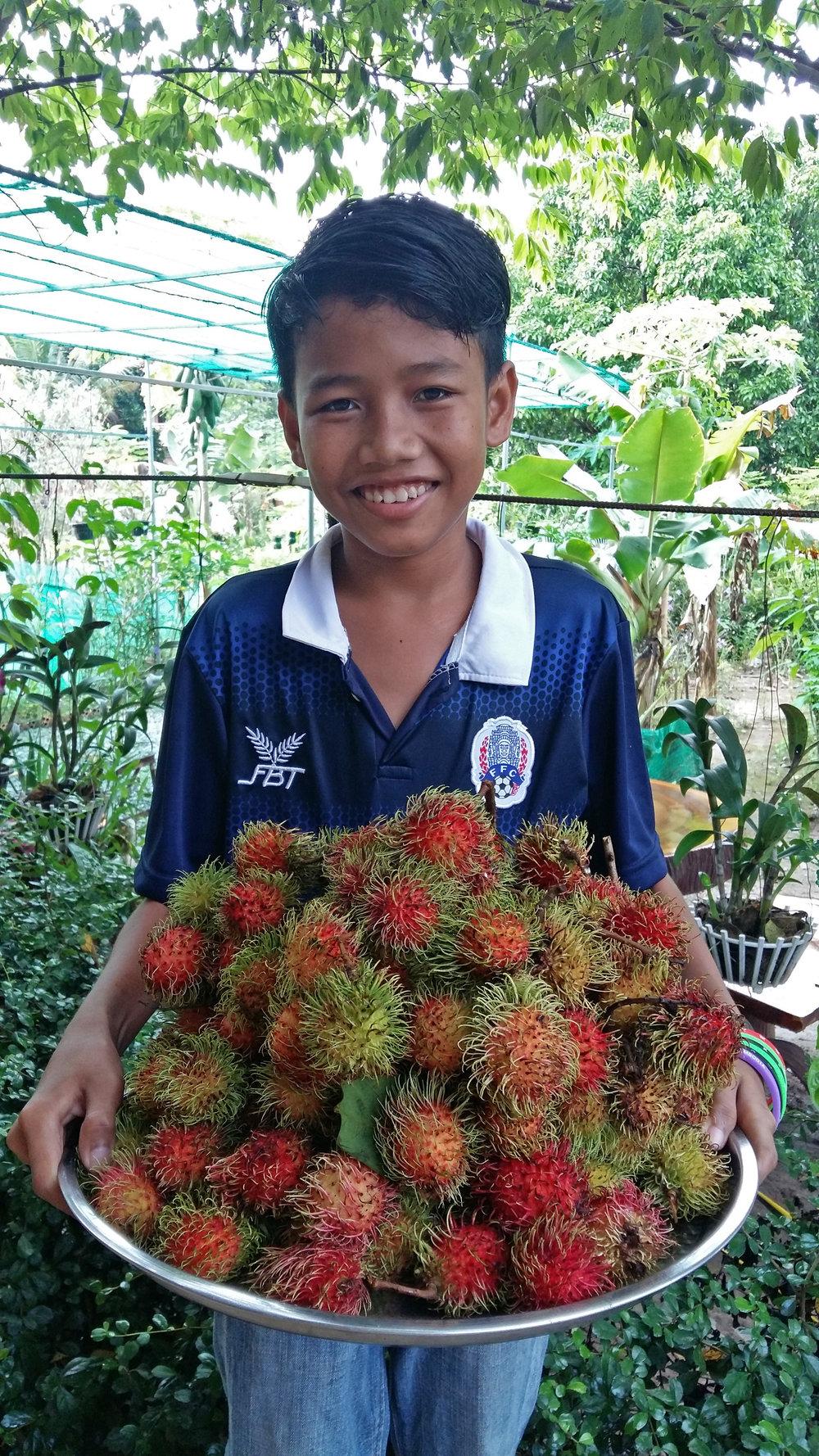 Delicious! The Rambutan fruit.