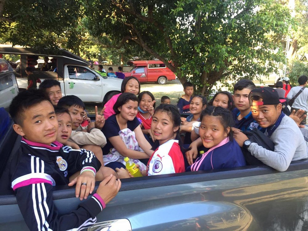 The kids and staff from Wiang Pa Pao made the journey to Doi Saket and joined in with the celebrations.