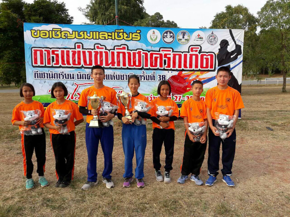 Cricket stars from Doi Saket 1 — Congrats on winning the Thailand National Championship!