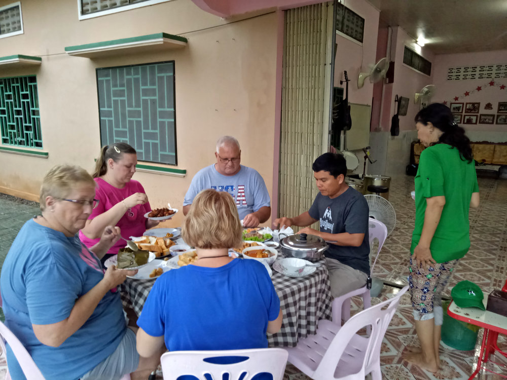 Battambang 7 enjoyed some wonderful meals with the team from their sponsoring church, Crossroads Chruch, Mansfiled, OH!
