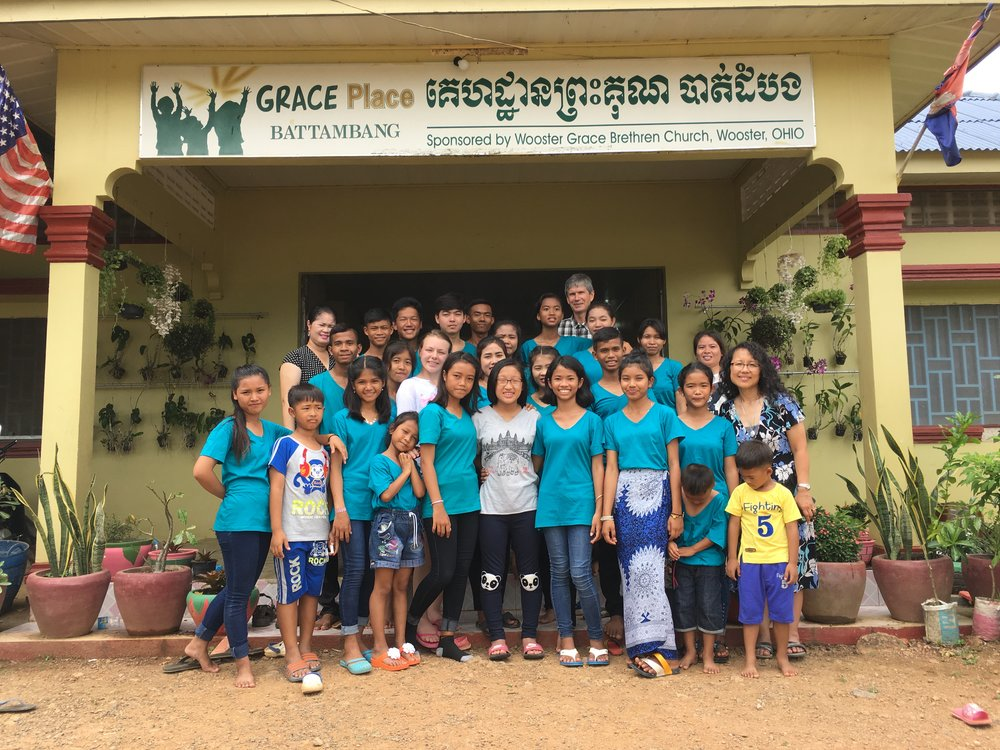 Great times the team from Wooster Grace, Wooster, OH, sponsors of Battambang 4!