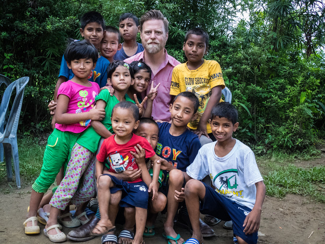 Me, with Nikita and other kids from our Kalimpong 5 and 6 homes