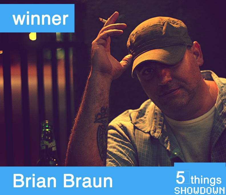 With 62% of the vote, Brian Braun isthe winner of our 5th and final matchup for the first round. Thanks so much to Justin Powell for playing along.