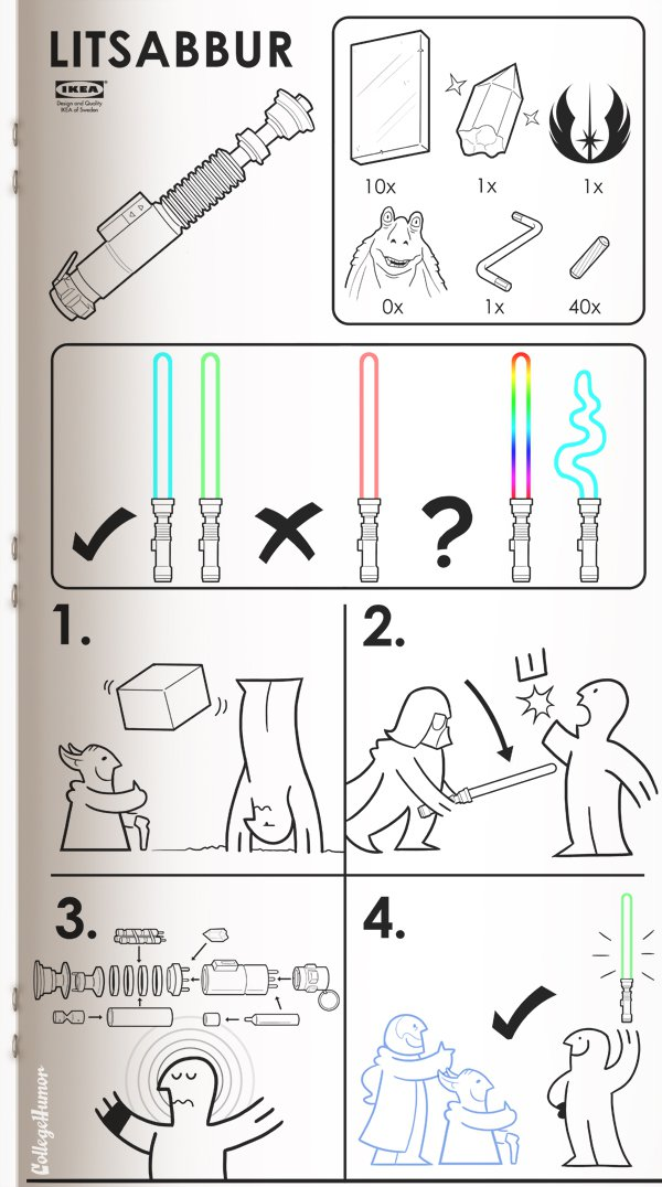 1.  Ikea manuals for Sci-Fi products  http://bit.ly/jw7yCZ  