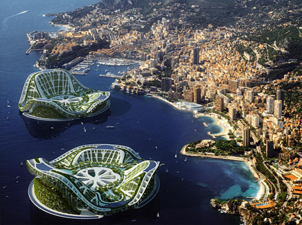 1.  ShowCase: LILYPAD, A Floating Ecopolis  http://bit.ly/mzjpyG  