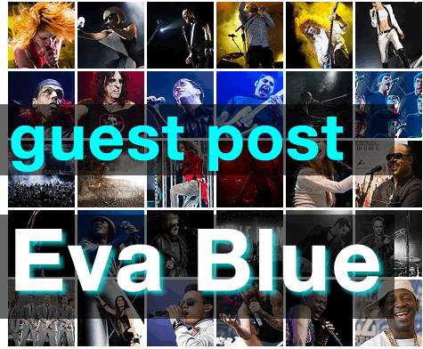 Beyond being a giant on blip.fm( http://blip.fm/evablue)  , this week's guest poster, Eva Blue ( http://evablue.com ) has managed to capture some amazing shots of today's iconic musicians as they roll through Montreal. Her photos here include  Lady Gaga,   Iggy Pop, Lykke Li, The XX, Arcade Fire and dozens of others.    