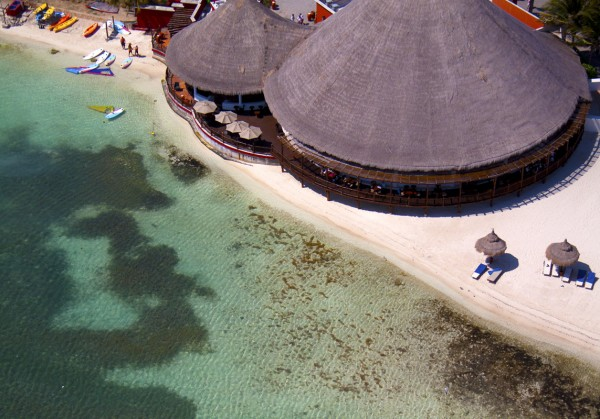 Round Tiki Roofs.