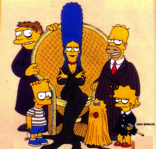 Simpsons as Addams Family
