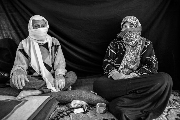 Ayman, and his wife Yasmine, Nizip refugee camp, Turkey