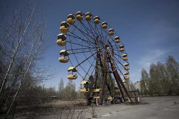 Amusement park in Pripyat, Ukraine. Its grand opening was scheduled for May 1, 1986; it opened for only a few hours on April 26 before the town was evacuated due to the Chernobyl Nuclear Power Plant explosion. Photo:  Noah Goodrich