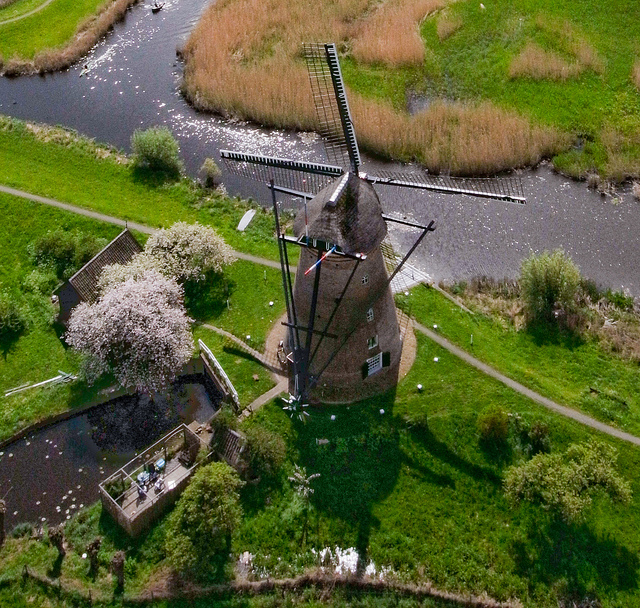 KAP Kite Aerial Photography windmill Netherlands Holland.jpg