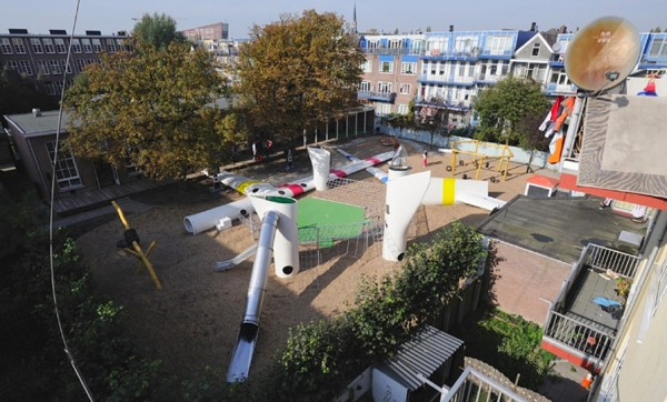 Wikado Playground   Designed by 2012 Architecten   Rotterdam   Read our previous posting about this project  here .