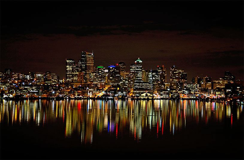 The Seattle skyline by  John G. Cramer