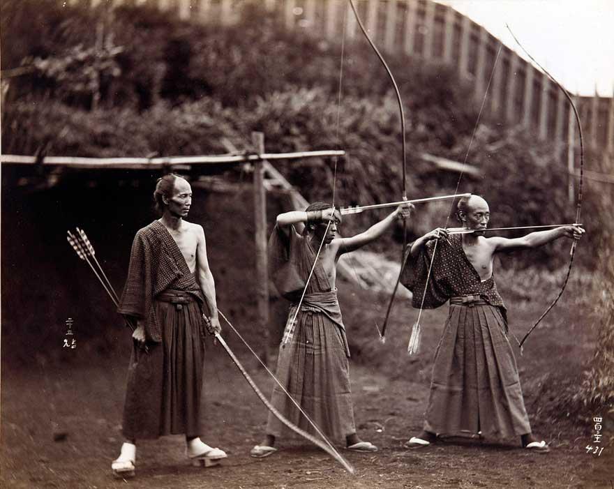 Japanese Archers, circa 1860