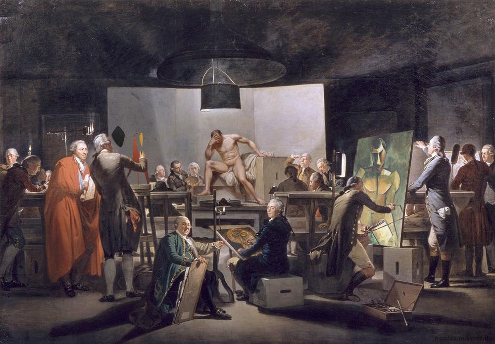 Aktsaal der Wiener Akademie (1787, Martin Ferdinand Quadal)