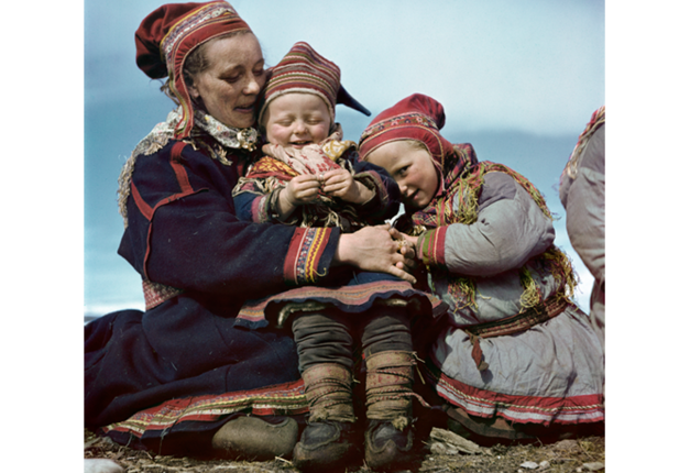Robert Capa, [Lapp family, Norway], 1951. © Robert Capa/International Center of Photography/Magnum Photos.