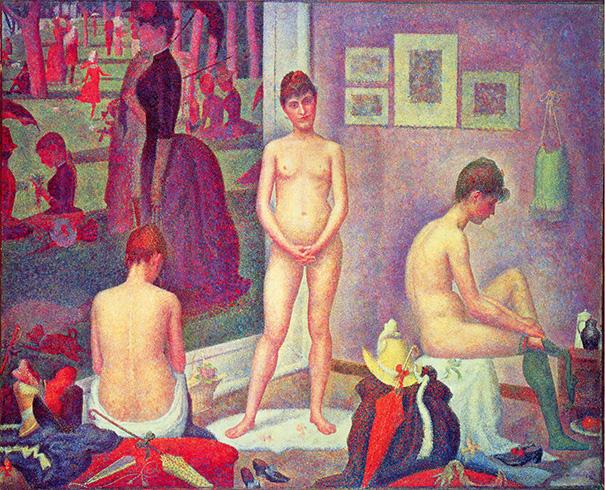 """Georges Seurat """"Les Poseuses"""" (Pointillism)"""