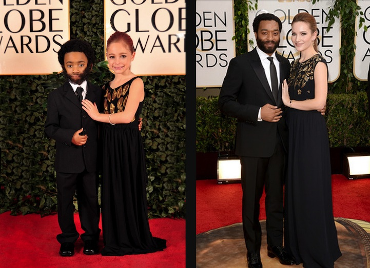 Chiwetel Ejiofor and Sari Mercer